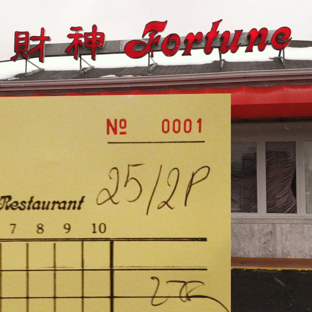 Fortune in Falls Church with Check No. 0001.