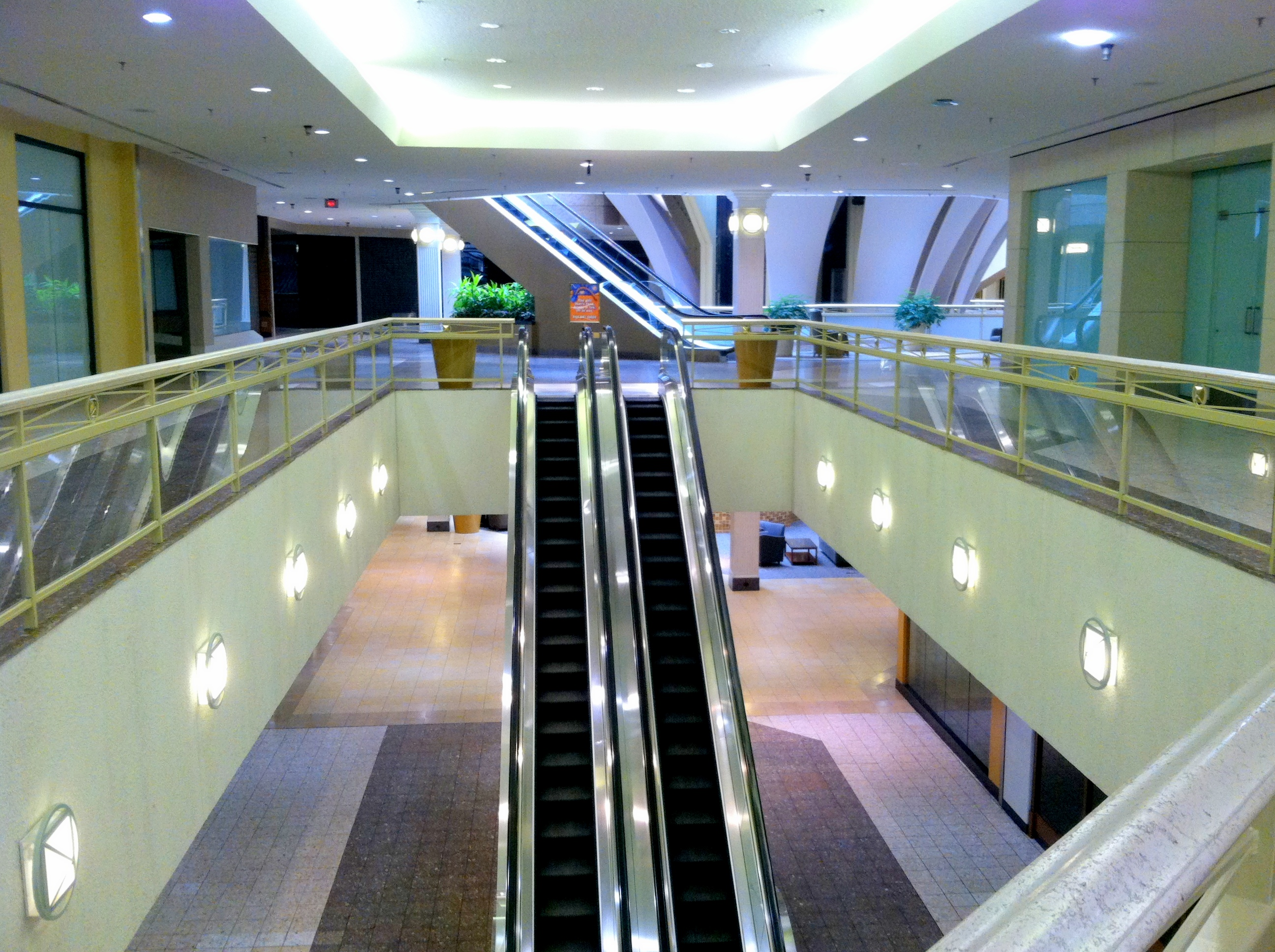 The escalators run for no one.