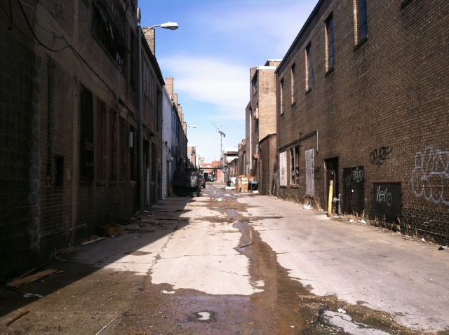 Alley between 4th and 5th Streets NE.