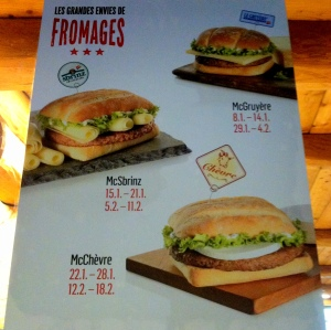 Les grandes envies de fromages. Hungry yet?
