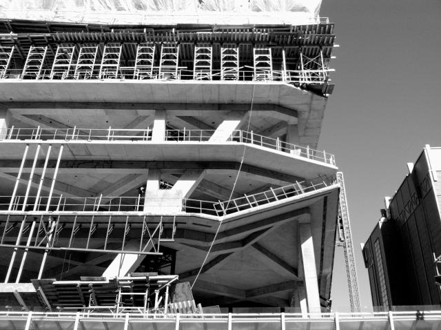 Building under construction near Yonge-Dundas Square.