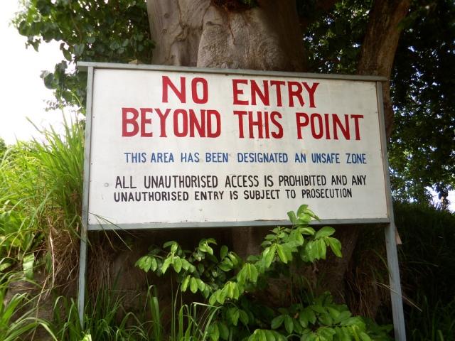 Restricted Area, Montserrat. Lauren Delizia/Flickr.