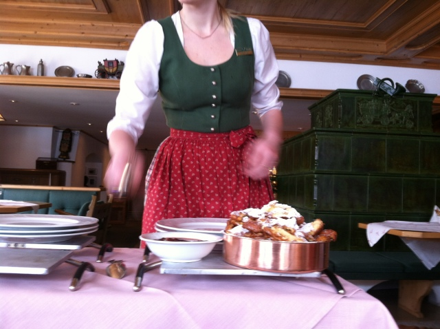 Kaiserschmarrn at the Hotel Gasthof Post in Lech am Arlberg, Austria.