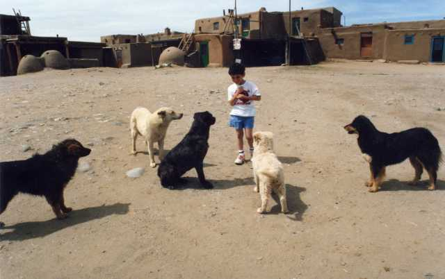 Me at Taos Pueblo, age 5 (Photo: A.S.Graboyes)