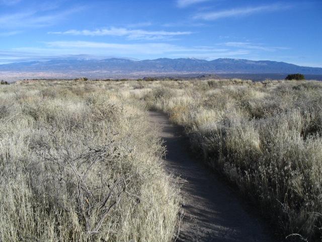 Sangre de Cristo Mountains (rear) from Tsankiwi near Los Alamos