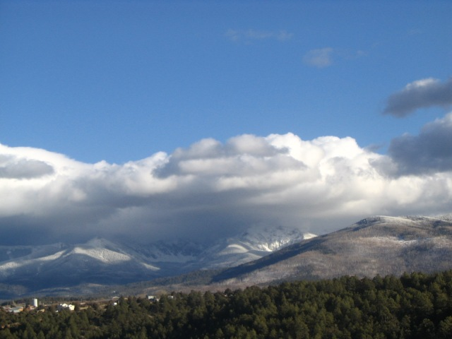 The High Road to Taos in January