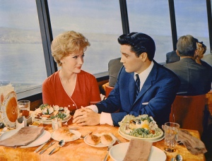 Elvis and date atop the Space Needle. Source: ourseattle/Tumblr.