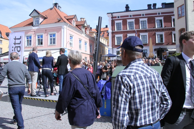 The streets of Visby during Almedalen.