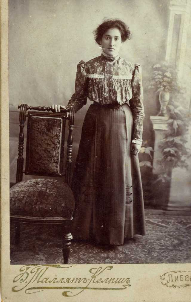 A forgotten photo from Hasenpoth, possibly my great-grandmother, Ben's mother, possibly named Miriam.