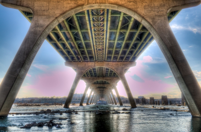 9th Street Bridge from Brown's Island, Richmond, Virginia (Andrew Rolfe/Andrew Rolfe Photography)
