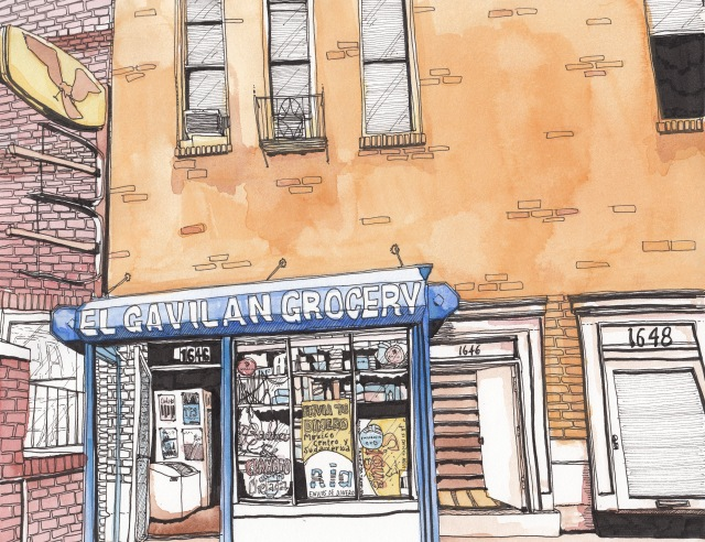 El Gavilán Grocery, Columbia Road (J.S. Graboyes Illustration)